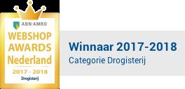 Webshop awards Nederland winnaar 2017 categorie drogisterij