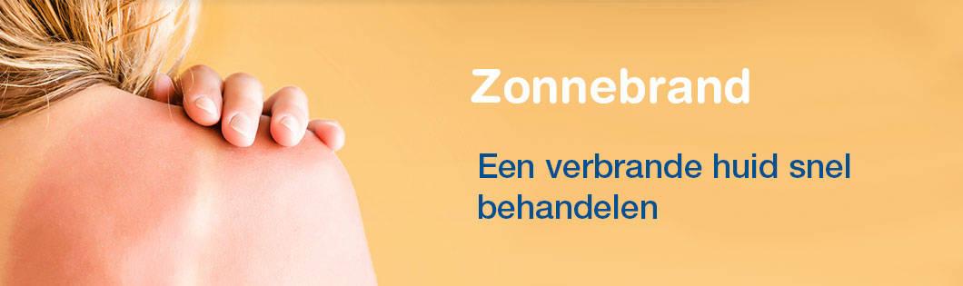 Zonnebrand banner