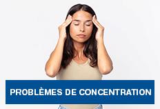 Problèmes de concentration